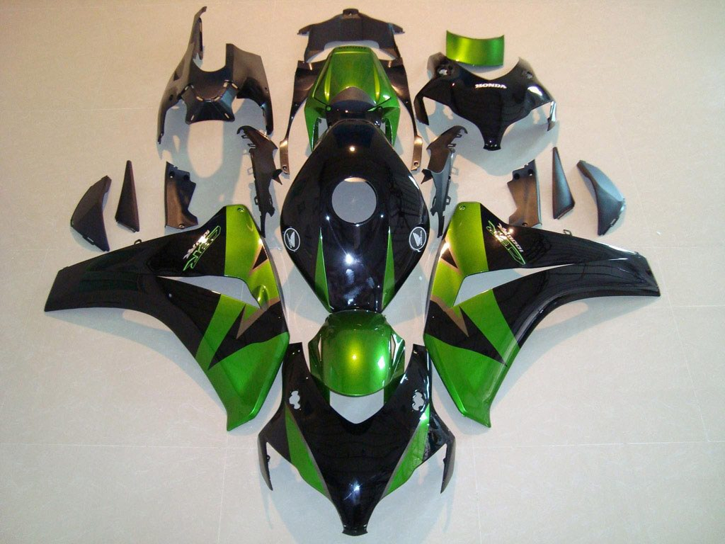USA Aftermarket Honda CBR1000RR fairings - Black Green - 08-11 C