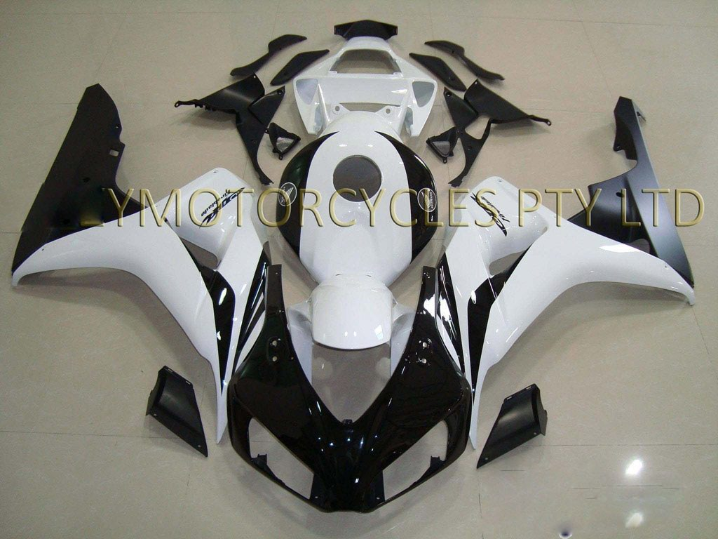 2006 Honda CBR1000RR fairings kit Black White - 06-07 CBR 1000RR