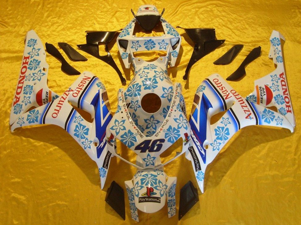 Netherlands Honda CBR1000RR fairings kit Nastro Azzuro - 06-07 C