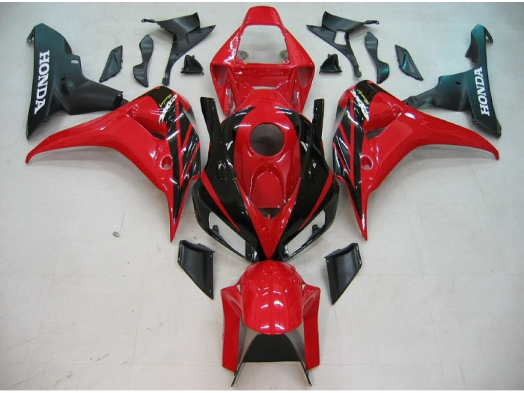 Canada Honda CBR1000RR ABS fairings on sales Red Black - 06-07 C