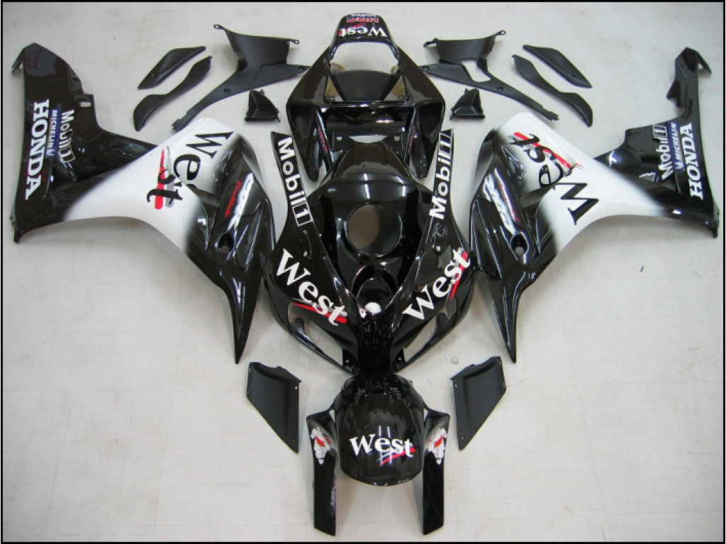 Race Honda ABS fairing CBR1000rr West Scheme - 06-07 CBR 1000RR