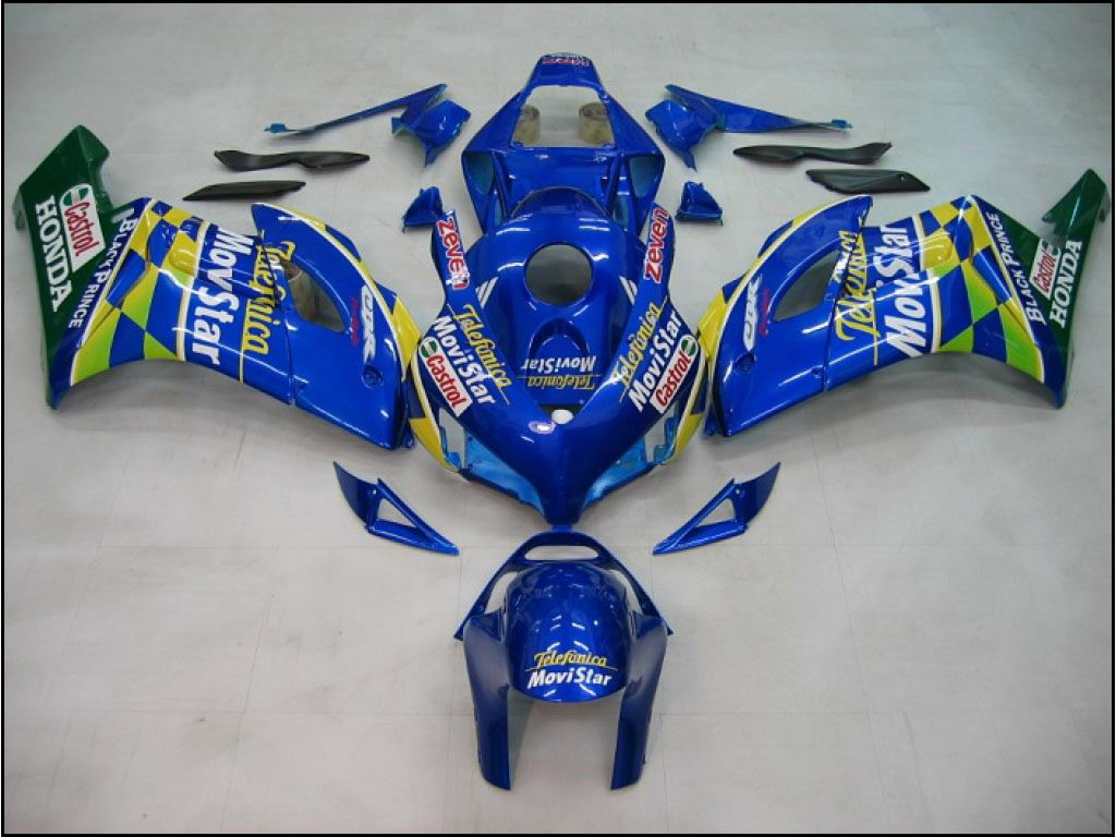 Nice Honda ABS motorcycle fairing kits Movistar Blue - 04-05 CBR