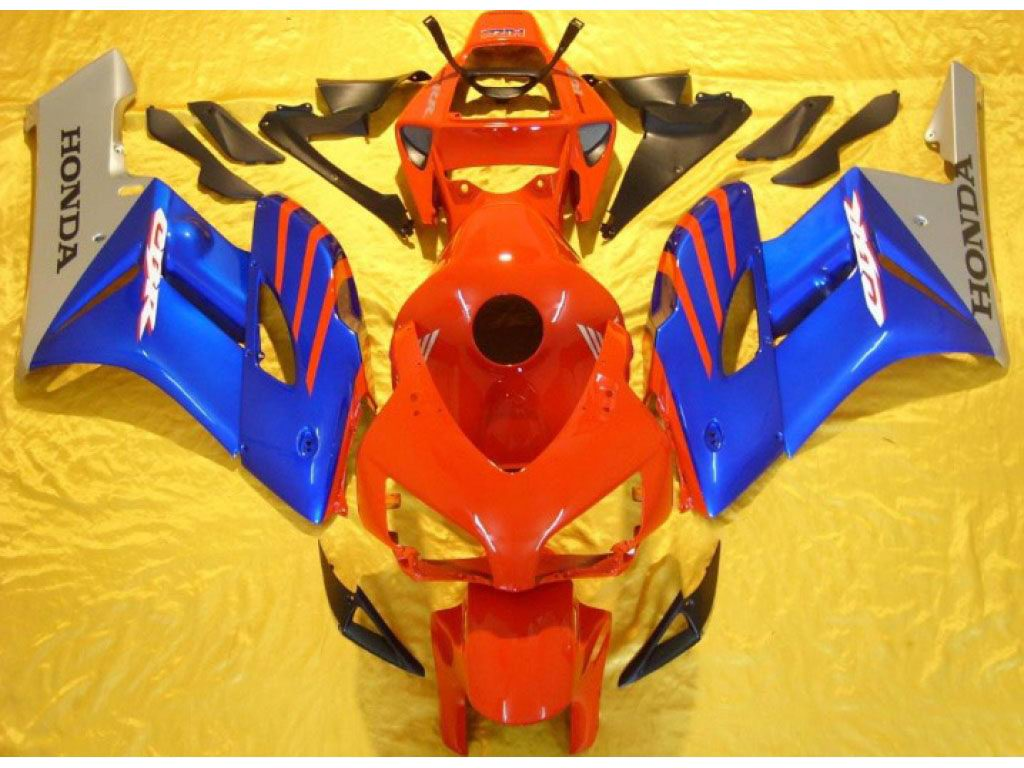United Kingdom Honda CBR1000RR 04-05 fairings kit Red Blue - 04-