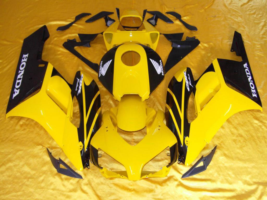 USA ABS Motorcycle fairings Yellow Black - 04-05 CBR 1000RR