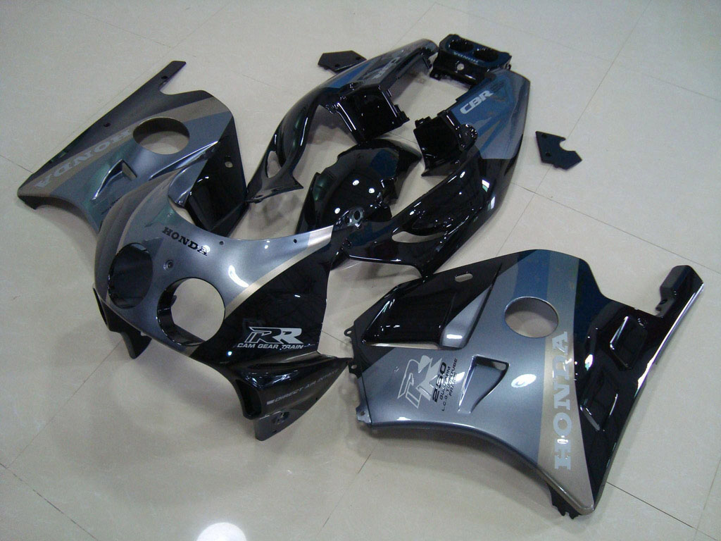 UK CUSTOM ABS FAIRING FOR HONDA 250 - Black Blue Silver- 90-99 C