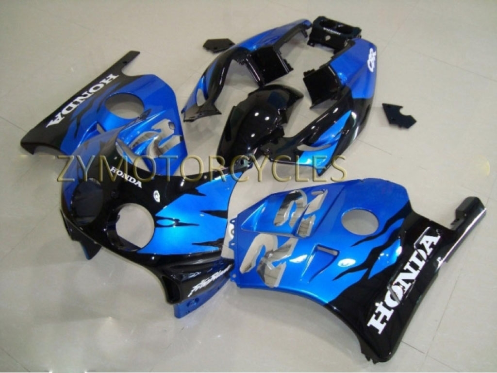Australia Honda 250 fairing Black Blue - 90-99 CBR250RR MC22