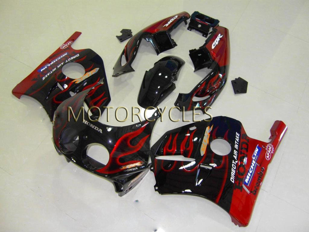 USA 1991 Honda CBR 250 fairing Black Red flame 2 - 90-99 CBR250R