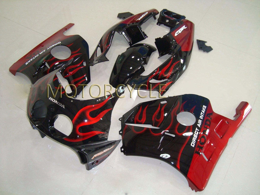 UK 1990 Honda CBR 250 fairing Black Red flame - 90-99 CBR250RR M