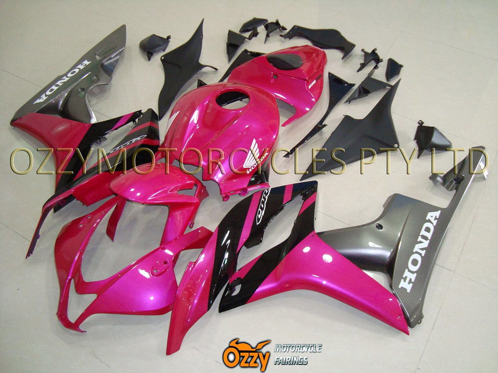 Pink and Grey 07-10 CBR 600RR fairings