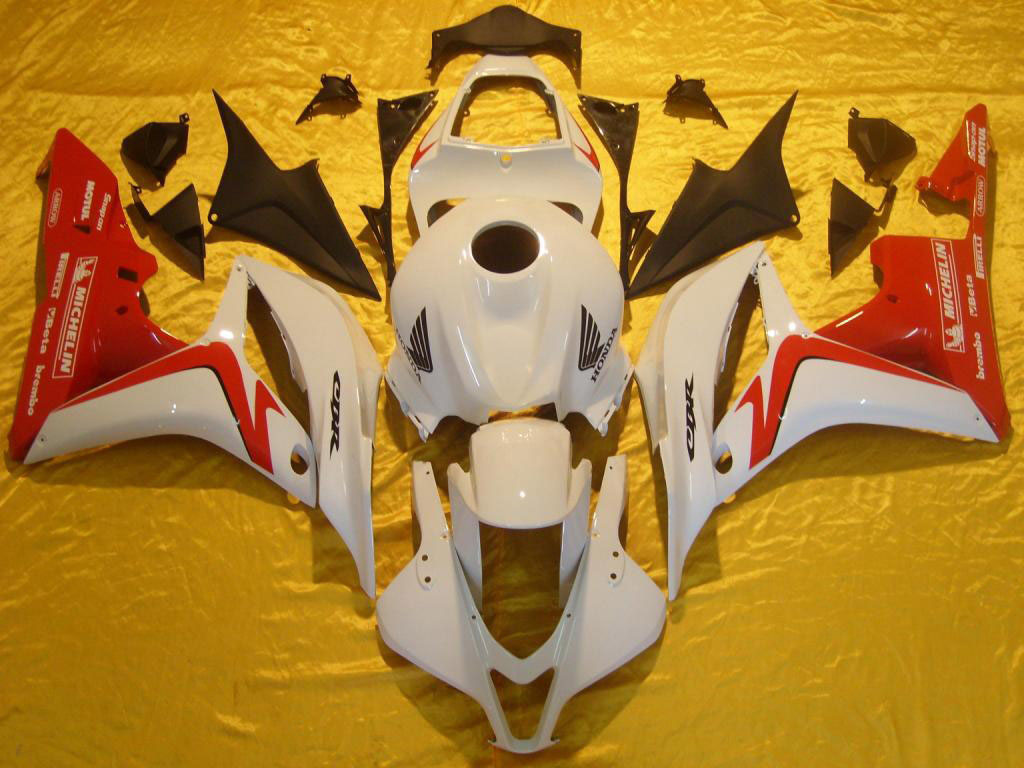 Hot sale White Red CBR 600RR fairings