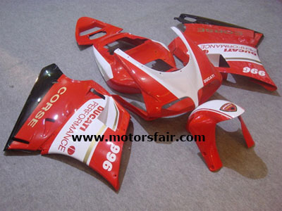 Lower Ducati 748/996/998 1993-2005 ABS Fairing - RED AND WHITE