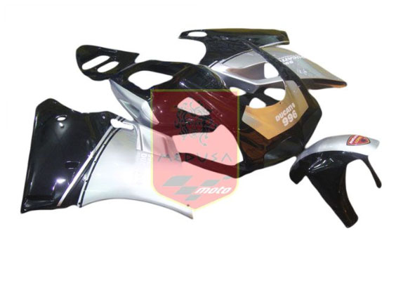 Black/Silver ABS Fairing Set 7pc - Ducati 748/916/996/998 1998-2