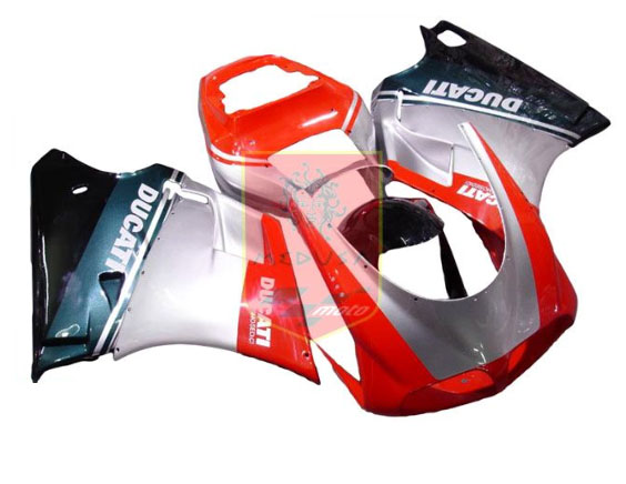 Red/Silver/Black ABS Fairing Set 7pc - Ducati 748/916/996/998 19