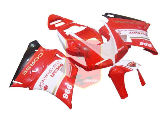 Red/White ABS Fairing Set 7pc - Ducati 748/916/996/998 1998-2002