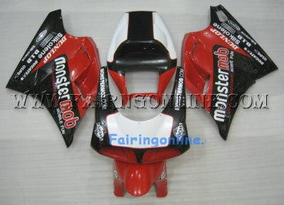 Black/Red/White Sportbike Ducati 748 / 996 / 998 Fairings kit +