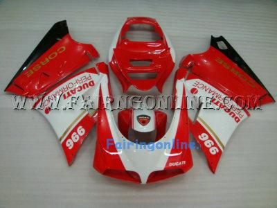 Aftermarket 966 Ducati 748 / 996 / 998 Fairings + Windscreen