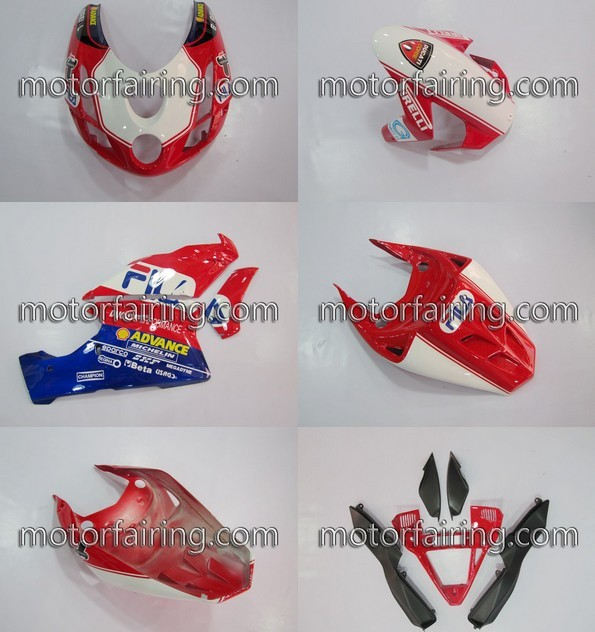 Aftermarket Ducati 749/999 2003-2004 ABS Fairing - Red/White/Blu