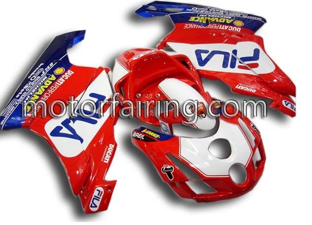Cool Ducati 749/999 2003-2004 ABS Fairing - Red/White/Blue