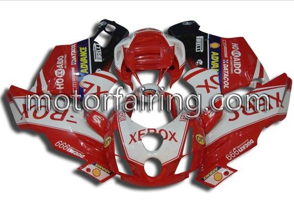 Lower Ducati 749/999 2003-2004 ABS Fairing - RED/WHITE/black