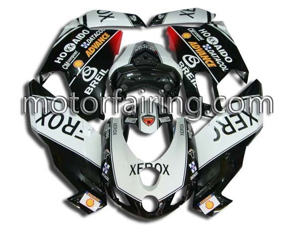 ABS Fairing Set Ducati 749/999 2005-2006 - Black/White