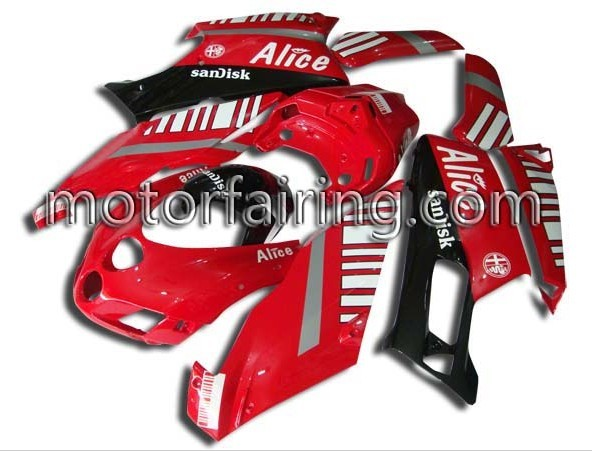 Black/White Alice ABS Fairing Set Ducati 749/999 2005-2006