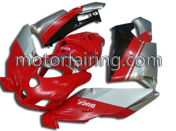 USA ABS Fairing Set Ducati 749/999 2005-2006 Red/Silver/Black