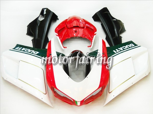 Ducati 1098/848/1198 2007-2009 ABS Fairing - Red/White/Green/Bla