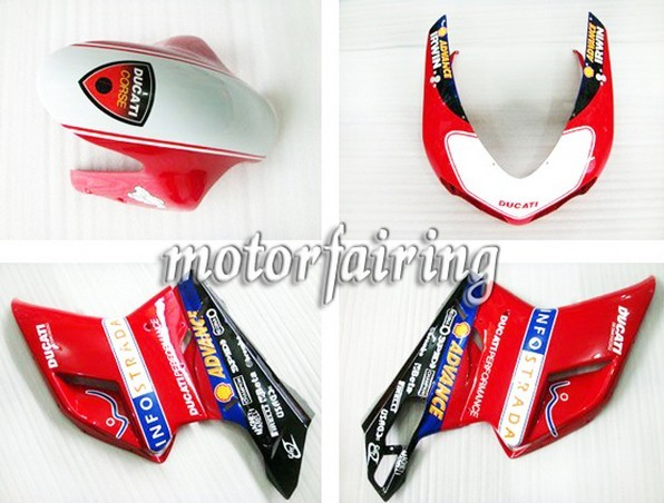 Netherlands Custom Ducati 1098/848/1198 2007-2009 ABS Fairings K