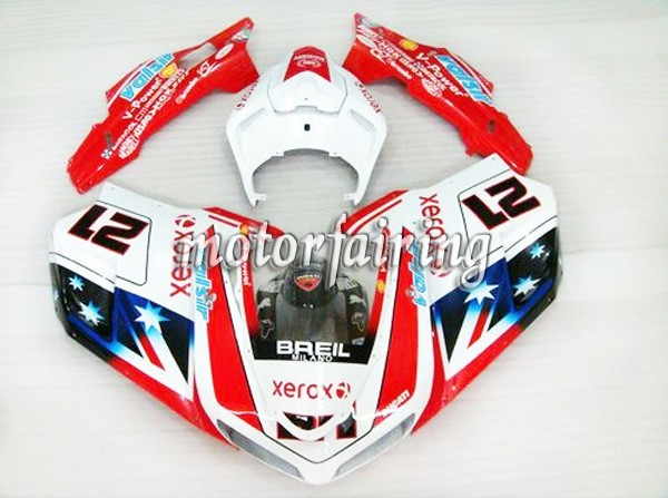 Canada After market Ducati 1098/848/1198 2007-2009 ABS Fairing -