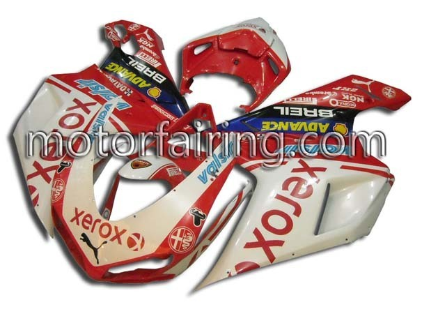 XEROX Fairing Set Ducati 1098/848/1198 2007-2009 - Red/White