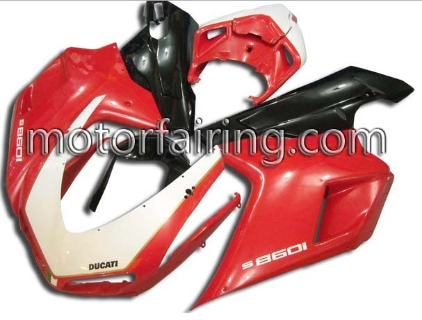 RED ABS Fairing Set Ducati 1098/848/1198 2007-2009
