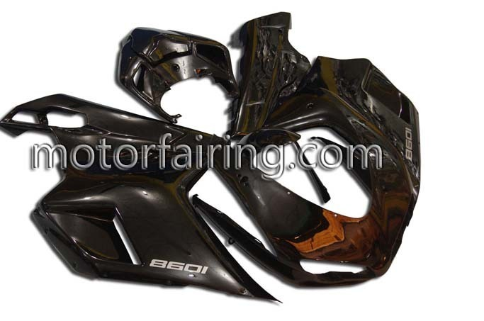 Lower ABS Fairing Set Ducati 1098/848/1198 2007-2009 - Matt Blac