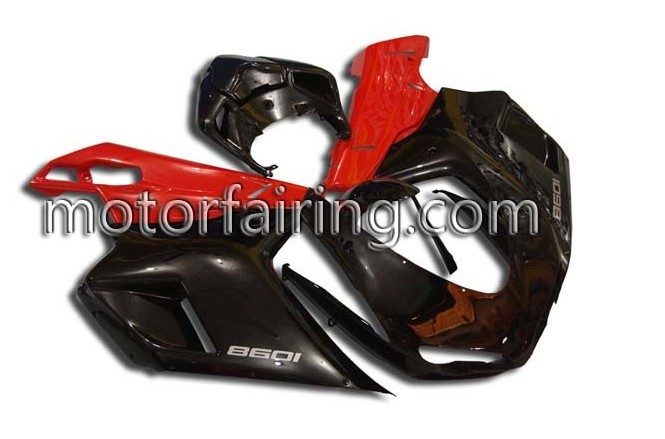 ABS Fairing Set Ducati 1098/848/1198 2007-2009 - Black/Red
