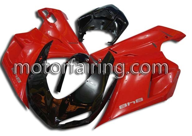 Black/RED ABS Fairing Set Ducati 1098/848/1198 2007-2009