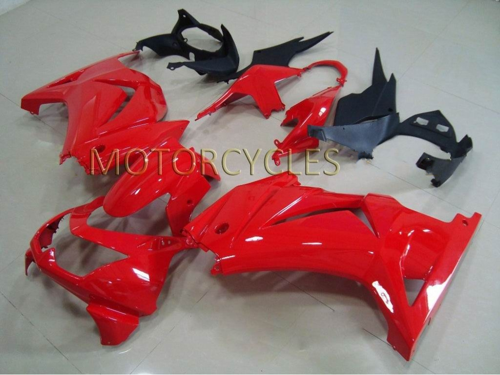 Custom kawasaki ninja 250r fairings 2007-2010 ---red