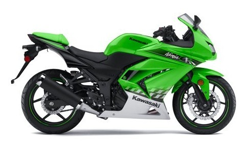 Custom fairing ninja 250R 2007-2010 ---green/white