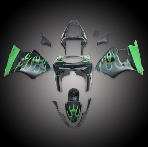 Wholesale kawasaki fairings ---Green