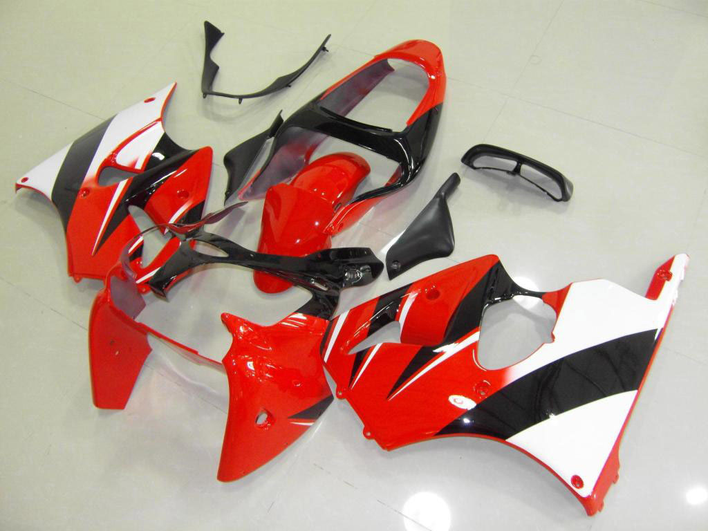 2001 kawasaki zx6r fairings ---Red Black White