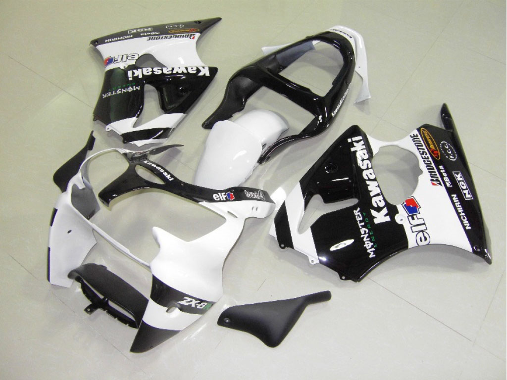 2002 kawasaki zx6r fairings ---Red Black White
