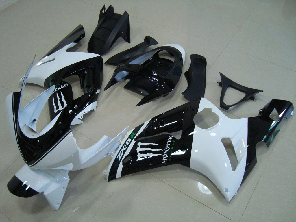 Aftermarket kawasaki fairing ---Black White Monster