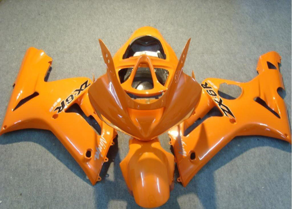 USA Wholesale zx6r fairings ---Orange Scheme