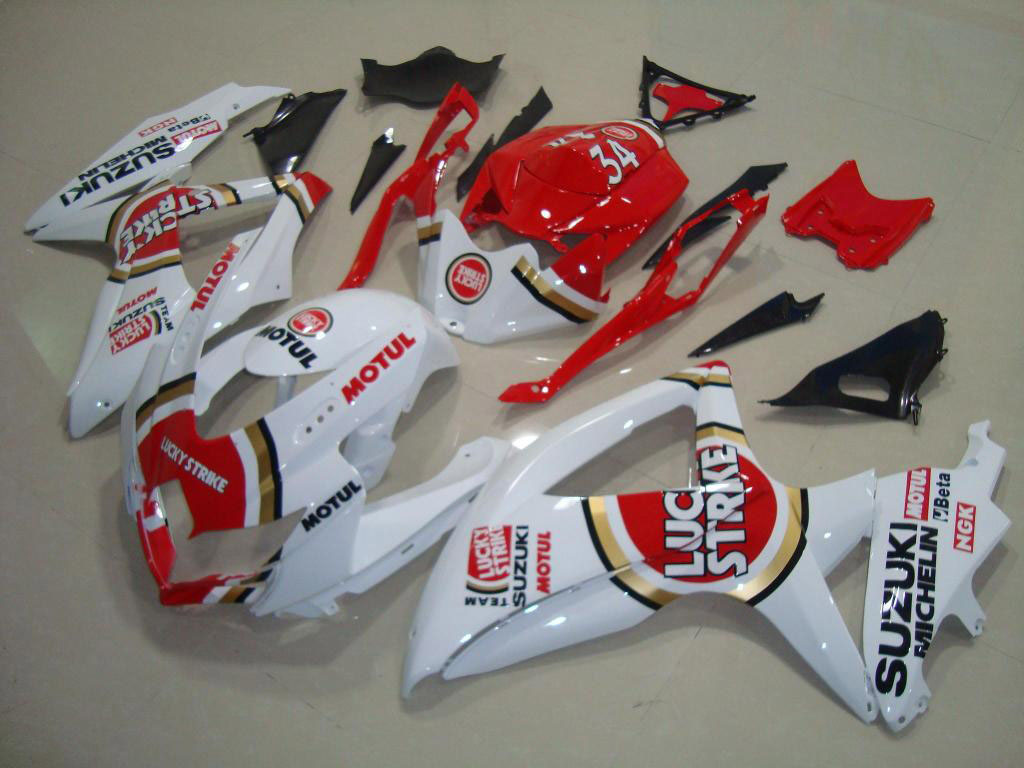 Australia ABS motorbike GSXR600 fairing kit (Red and White)
