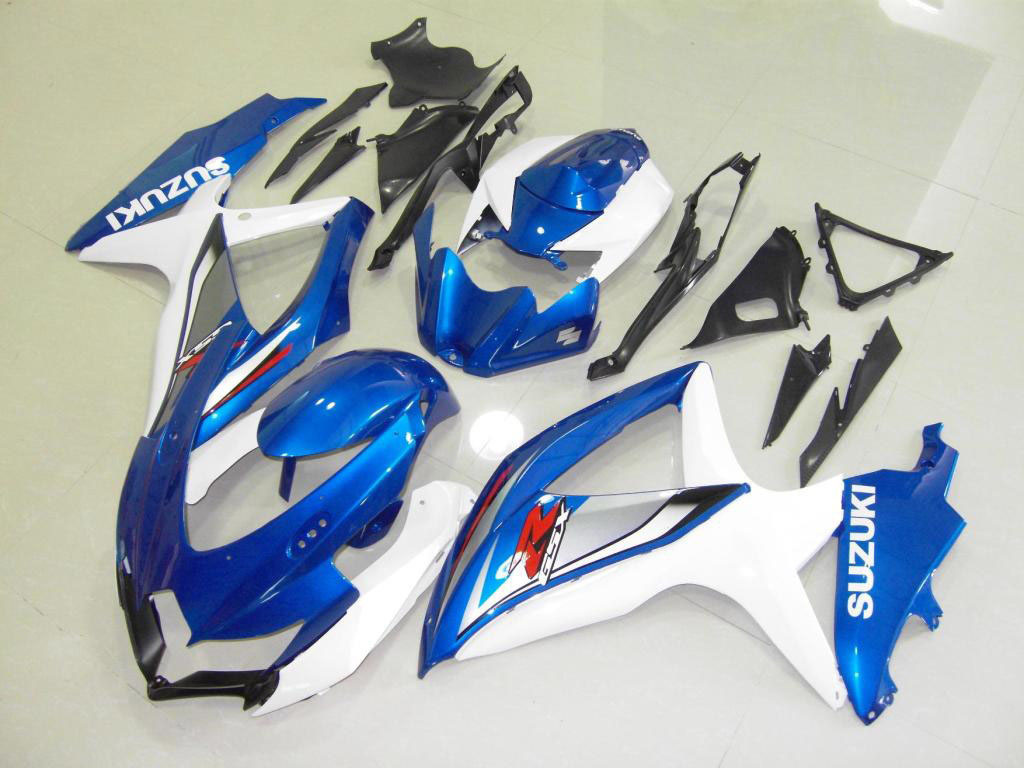 USA aftermarket sportbike GSXR fairings for GSXR750 (Blue and Wh