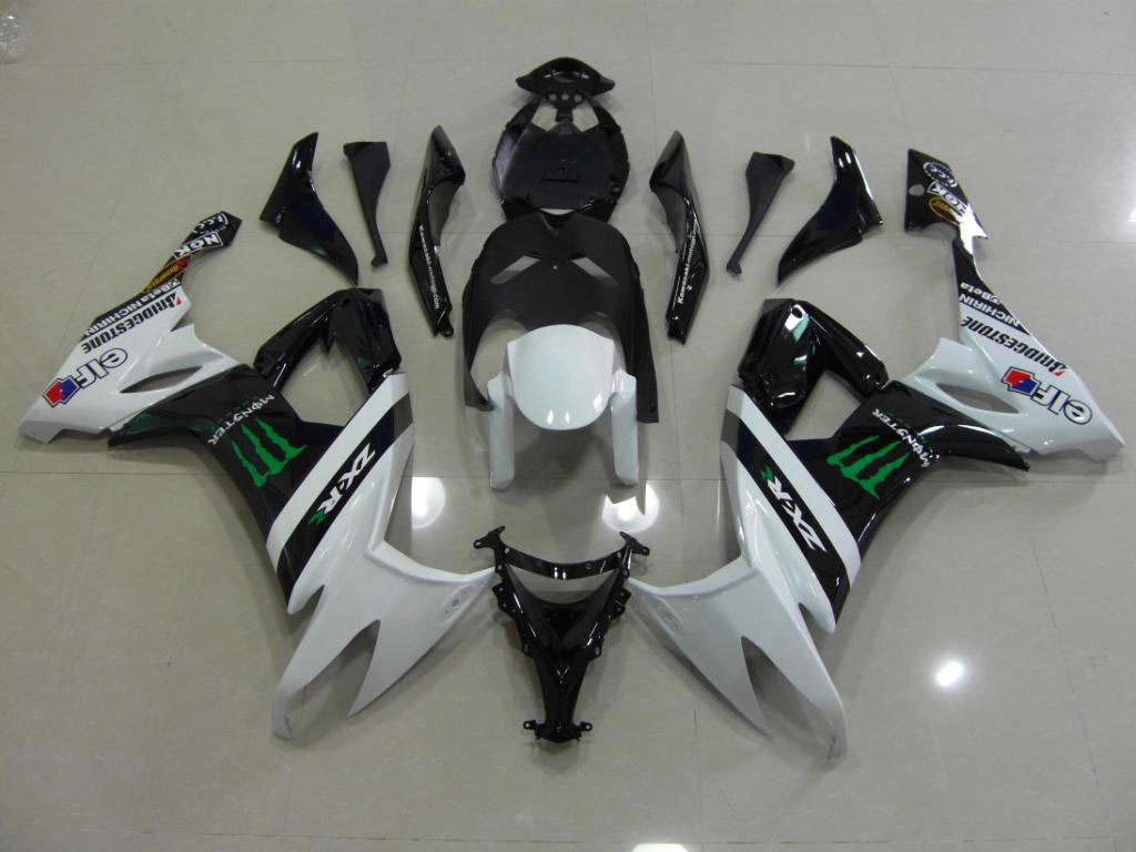 UK Motorbike fairing kits FOR Kawasaki - Black/White