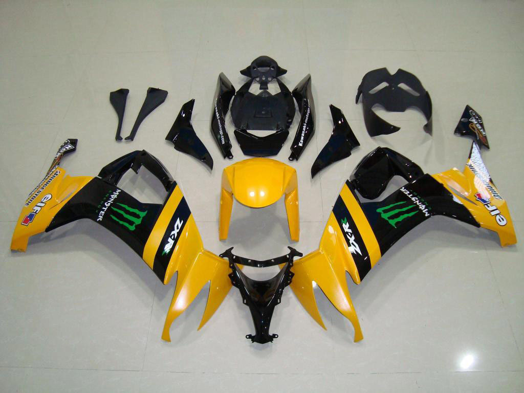 Yellow/Black motorcycle fairings for ZX10R 08-10