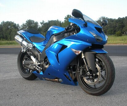 2007 NINJA ZX10R FAIRINGS KIT - ALL Blue