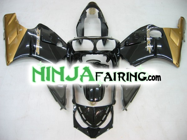 Best aftermarket motorcycle ZX12R fairings - Black and Gold
