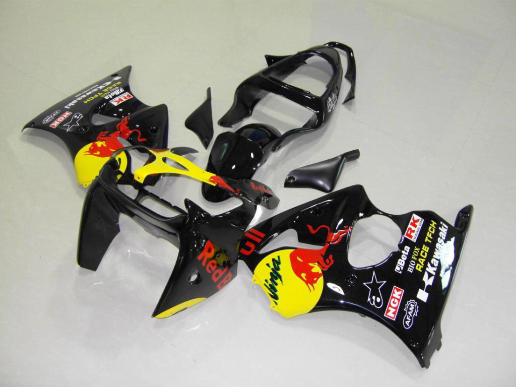 Cool aftermarket NINJA ZX6R fairings ---Black Redbull